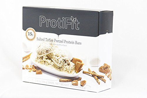 Proti Fit Salted Toffee Pretzel Protein Bar Ideal Protein Compatible (Pretzel Toffee)