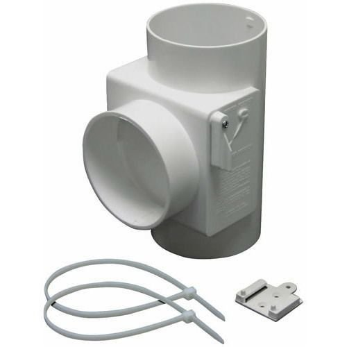 nomizer White Plastic Dryer Vent Use With Electric Dryers ()