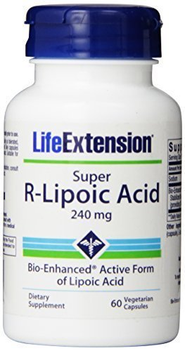 - Life Extension Super R-Lipoic Acid, 240mg (180 Vegetarian Capsules) by Life Extension