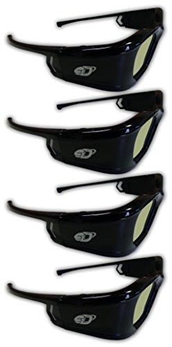 41MjU Kst L - SAMSUNG 4 PACK Compatible eDimensional RECHARGEABLE 3D Glasses for 2011-15 Bluetooth 3D TV's