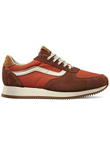 VANS Men sneakers with real leather brown 4,5