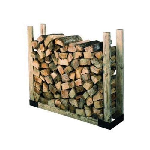 (PM Heavy Duty Steel Adjustable Fire Wood Log Rack Bracket Kit)