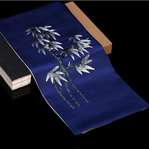 Seda Tamaño Pañuelo De Bambú Diseño color Elegante Azul Bolsillo Suave 35cm Fuxitoggo 155 Azul n46BxvB