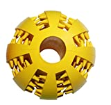 ARRVZRA Big Pet Toys Dog Toys Rubber Balls Chew Tooth Cleaning Balls Resistant to bite(yellow)