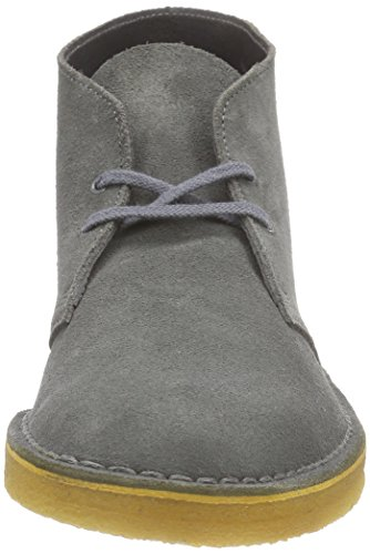 Clarks Originals Desert Boot, Stivali Chukka Uomo Grigio (Grey Suede)