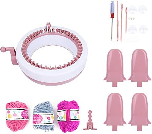 Camidy Hand Knitting Weaving Machine,DIY Plastic Children Sewing Toy Home Craft Weaving Loom Kit for Parent Child Interaction