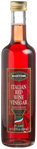 Mantova Italian Red Wine Vinegar, 17-Ounce Bottles (Pack of 4)