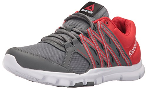 Reebok Mens Yourflex Train 8 0 Lmt Running Shoe  Alloy Riot Red White  13 M Us