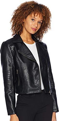 Jacket Womens Fancy (Tribal Women's Fancy Moto Jacket Black Large)