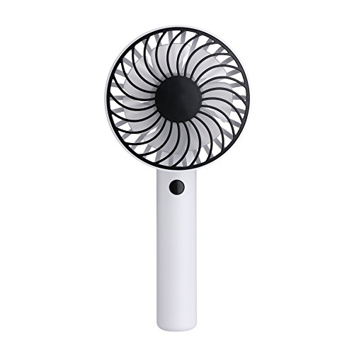 Mini Handheld Fan KingTo Fan 180 Degree Rotating Gift Fan Summer Battery Operated Handheld Fan With 3 Speed Adjustable Rechargeable USB Portable Fans(White) by KingTo