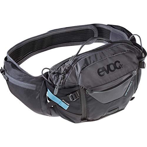 EVOC HIP PACK PRO 3l Hüfttasche Bauchtasche für Bike-Touren & Trails (28 x 18 x 8 cm, 3l Stauraum, AIRFLOW CONTACT SYSTEM, AIRO FLEX Hüftgurt, 1,5l Trinkblase
