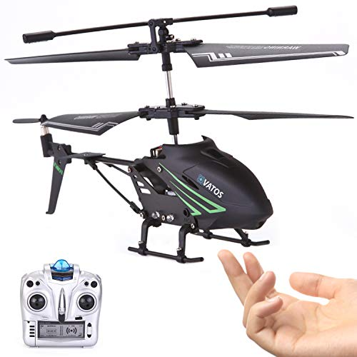 VATOS RC Helicopter, Remote Control Helicopter with Gyro and LED Light 3.5 Channel Alloy Mini Helicopter Remote Control for Kids & Adult Indoor Outdoor Micro RC Helicopter, Helicopter Toy for Kids