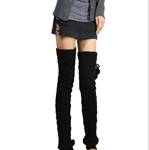 Mememall Fashion Thigh High Over the Knee Pom Pom Stretch Warm Dance Boot Leg Warmers New (Kids Union Officer Hat)
