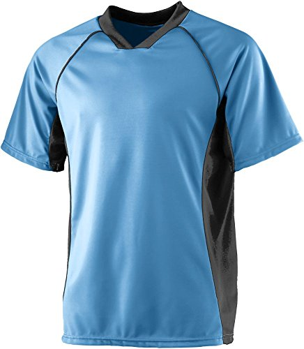 Augusta Soccer Jerseys - Augusta Sportswear MEN'S WICKING SOCCER SHIRT XL Columbia Blue/Black