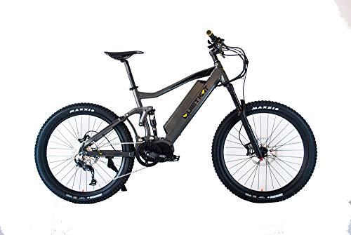 "QuietKat 18QKM750CCAH19-CHR Ridgerunner Electric Bike Full Suspension, Charcoal, 19""/Large"