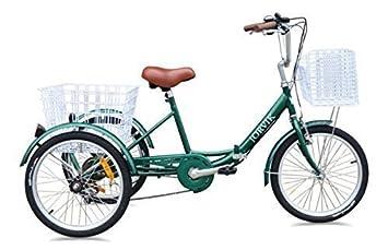 Jorvik - Triciclo plegable para adultos y niños (rodado 20), varios colores disponibles, verde: Amazon.es: Deportes y aire libre