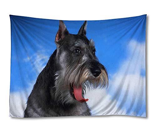 ElloStorka Schnauzer Dog face Fluffy Animals/Home Wall Decor Tapestries Wall Hang Tapestry (30x45 inch)