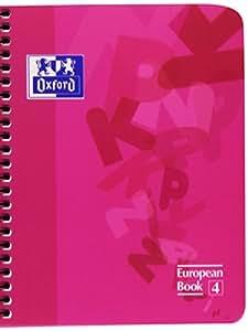 Oxford 745829 - Cuaderno polipropileno, cuadricula 5 x 5, 120 hojas, multicolor