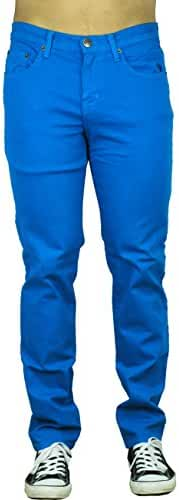 Blu Mens Slim Fit Jeans 20 Colors Soft Stretch Skinny