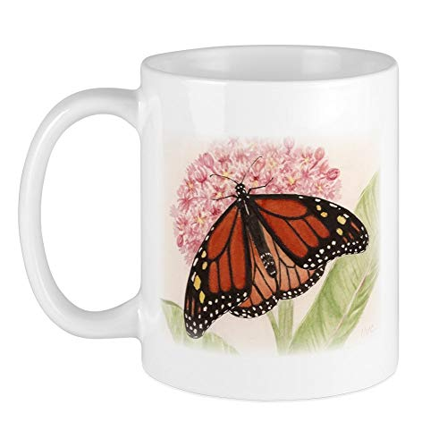 CafePress Monarch Butterfly And Caterpillar Mug Unique Coffee Mug, Coffee - Caterpillar Mug