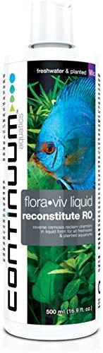 Continuum Aquatics Flora-Viv Reconstitute RO, reverse osmosis reclaim chemistry, in liquid form, for all freshwater & planted aquaria, 500ml