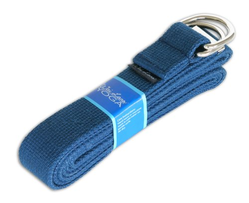 Wai Lana Yoga Strap, 8 feet, Navy Blue
