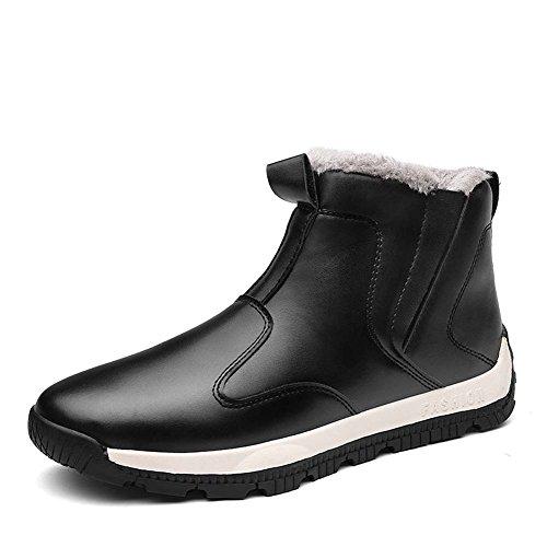 in Sneaker in Scarpe Uomo Pelle Alte Pelle Alte Invernali in Nero da Antiscivolo Foderati Pelliccia Stivali Stivali HU6xqwYqA