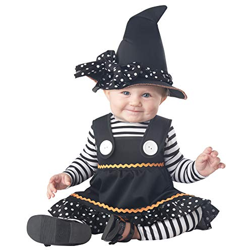 California Costumes Baby Girls' Crafty Lil' Witch Infant, Black/White, 18 to 24 Months