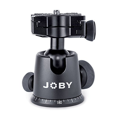 JOBY GorillaPod Ballhead X For Focus. Quick Release Ballhead for Tripods, Videos Cameras, and Pro DSLR Cameras w/Zoom Lenses up to 5kg (11.1lbs)