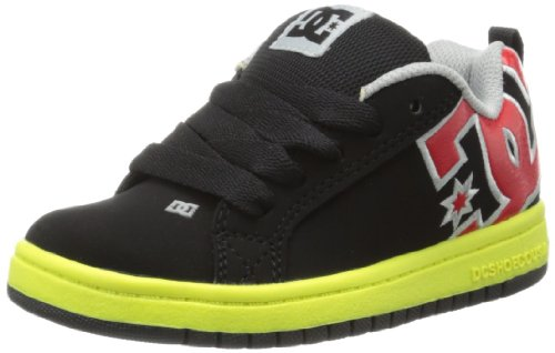 Court Graffik Skate Shoe ,Black/Bright Yellow,11.5 M US