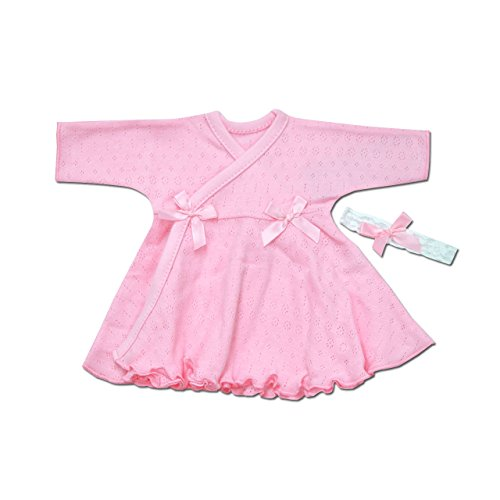 Itty Bitty Baby Wrap Dress (Pink Pointelle, Preterm 2 ()