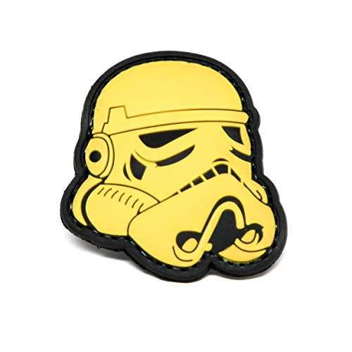 Stormtrooper Star Wars PVC Rubber Morale Patch by NEO Tactical Gear Morale Patch (YELLOW)