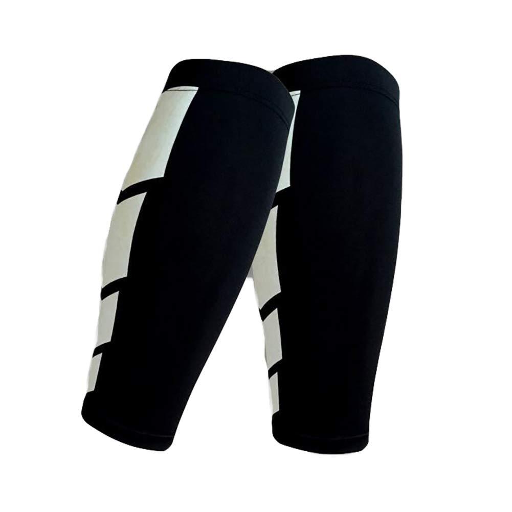 Ouken Pantorrilla Mangas Calcetines Una Mejor compresi/ón de la Pierna de circulaci/ón y el Alivio del Dolor para los Corredores Atletas Blancos 1PC