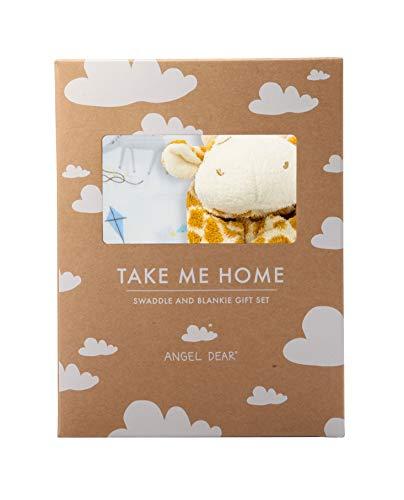 Angel Dear Swaddle and Blankie Gift Set, Giraffe Kites with Tan Giraffe