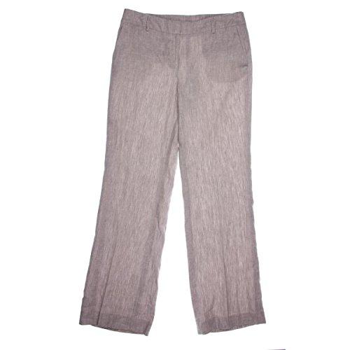 Jones New York Women's Straight-Leg Linen-Blend Trousers Beige Combo 14