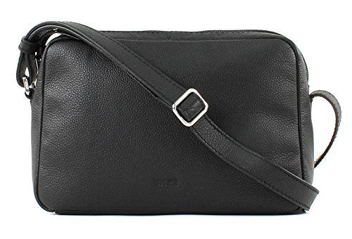 Leather Cary 10 Bree Black Cm 23 Bag Shoulder IdTnSwq