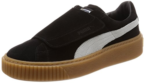 365224 03 Nero Wn's Grigio Nero Platform Strap Sneakers 37 Puma Marrone 8qxOg0a