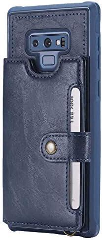 Samsung Galaxy S10 レザー ケース, 手帳型 サムスン ギャラクシー S10 本革 財布 カバー収納 携帯カバー 全面保護 ビジネス 無料付スマホ防水ポーチIPX8