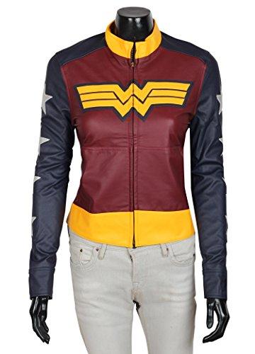 Decrum Wonder Woman Leather Jacket L
