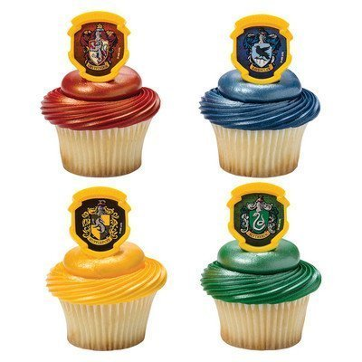 Harry Potter - Hogwarts Houses Cupcake Rings - 24 pc by DecoPac: Toys & Games