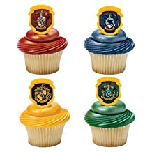 Harry Potter - Hogwarts Houses Cupcake Rings - 24 pc