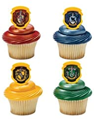 Harry Potter - Hogwarts Houses Cupcake Rings - 24 pc by DecoPac