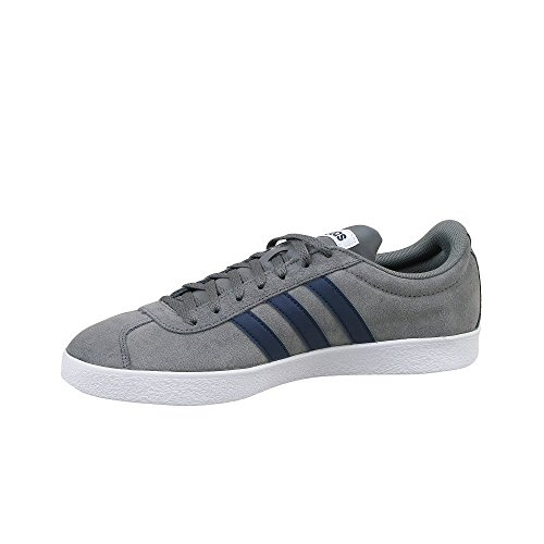 adidas Herren VL Court 2.0 Gymnastikschuhe Grau (Grey Four F17/collegiate Navy/ftwr White Grey Four F17/collegiate Navy/ftwr White)