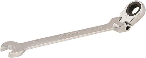 2 clés à pipe à têtes pivotantes 10mm et 13mm