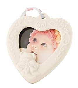 Belleek 4123 Baby Frame Hanging Ornament, 2.75-Inch, White