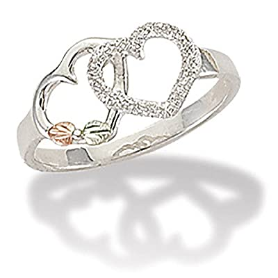 Black Hills Silver Double Heart Ring for sale