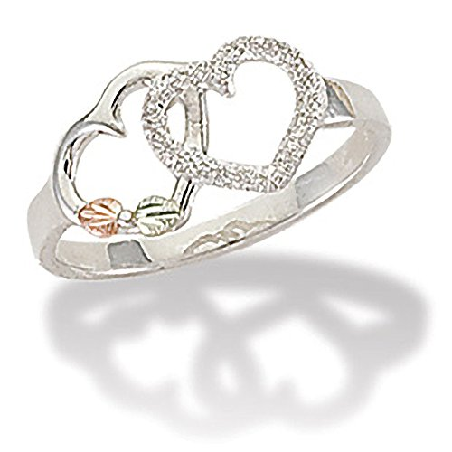 Black Hills Silver Double Heart Ring - Ring Size 7.5