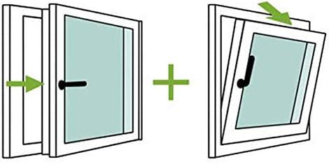 Practicable Apertura Izquierda TermProtect Resistente al sol e humedad REGALO Garras de fijaci/ón Ventana PVC 80 cm x 100 cm Alto aislamiento termico y acustico Oscilobatiente