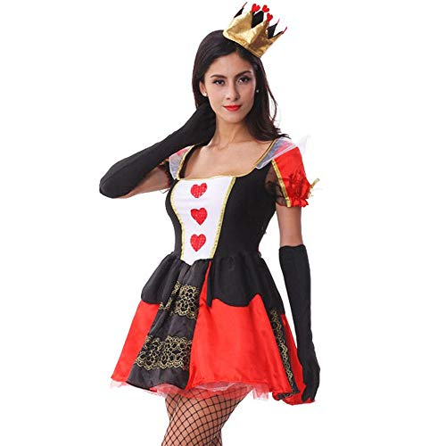 LOKODO Women's Little Red Riding Hood Costume Sexy Halloween Costumes for Women Make up Party Dress Red M]()