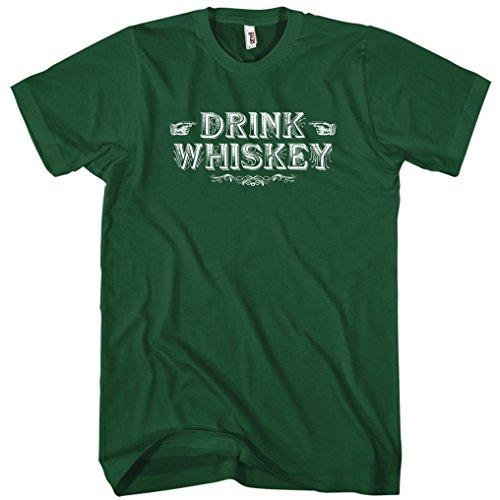 Seagrams Whiskey - Smash Vintage Men's Drink Whiskey T-Shirt - Dark Green, Medium